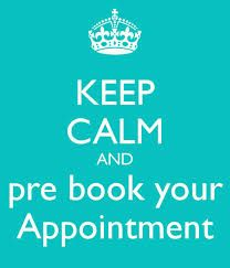 pre-book appointments